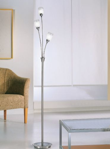 Franklite SP80023 Chrome / Satin Nickel Floor Lamp (Class 2 Double Insulated)
